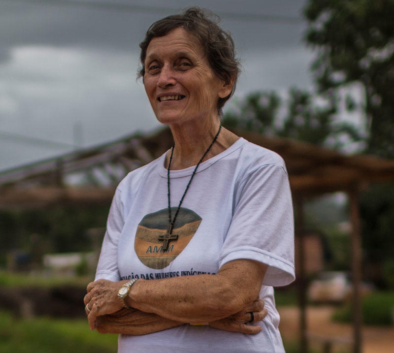 Sister Rebeca Spires, has lived in Brazil for 48 years, 40 on the border with French Guiana.