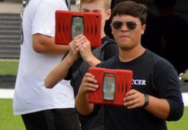 PHS marching band goes high-tech to learn 2017 field routine