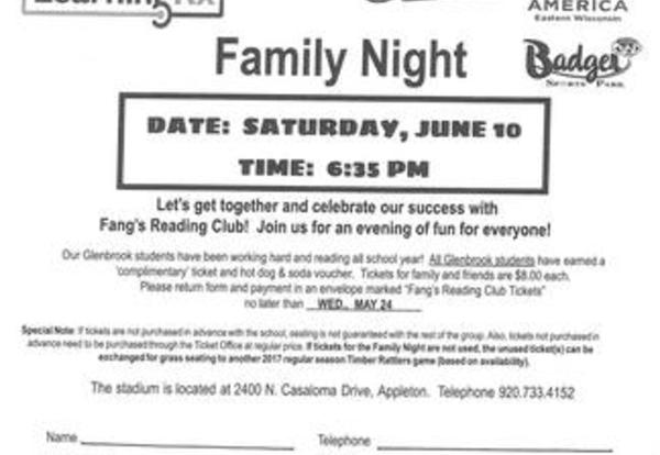Fang's Reading Club Orders Due  - May 24