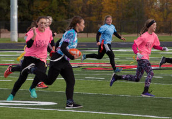 Check out action from PHS's powderpuff game