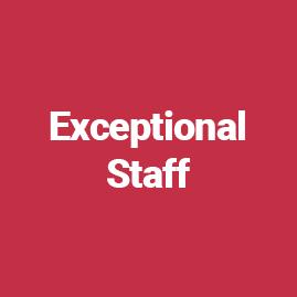 Exceptional Staff