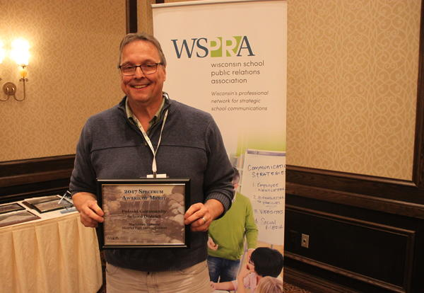 PCSD earns WSPRA Spectrum Award