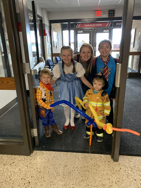 people in costume