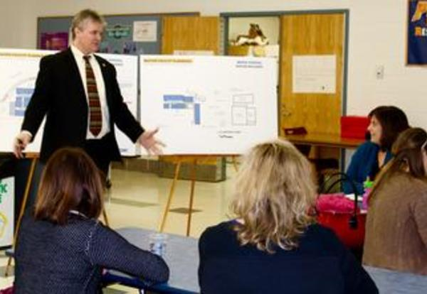 Dr. Wegley Attends PTO Meeting to Discuss Facility Bond Referendum