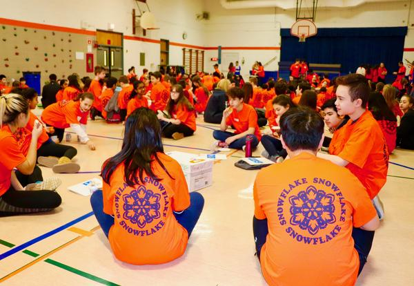 Maple School NEWS BRIEFS:  Seventh Graders Embrace Warmth of Snowflake Program