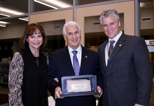 District Welcomes Former Superintendent Dr. Harry Rossi Back for Plaque Unveiling