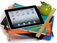 iPad, notebooks and ruler
