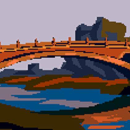 Bridge over river clip art
