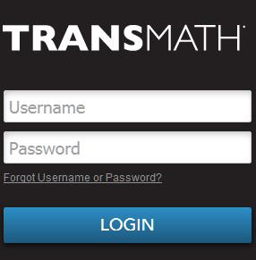 TransMath login screen