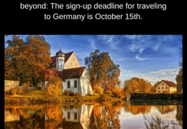 German Trip Abroad