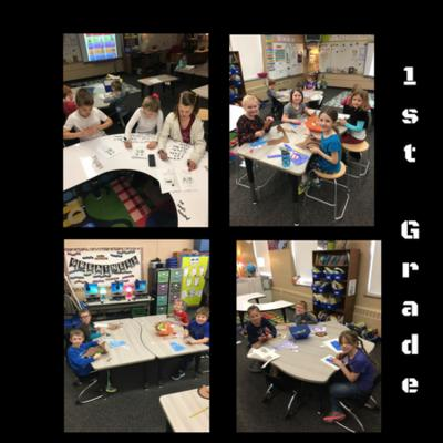1st Grade in new clasroom furniture and layout.
