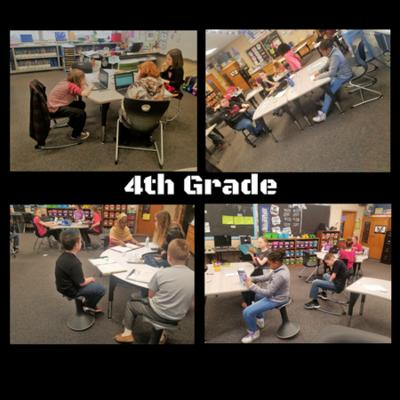 4th Grade in new classroom layout.