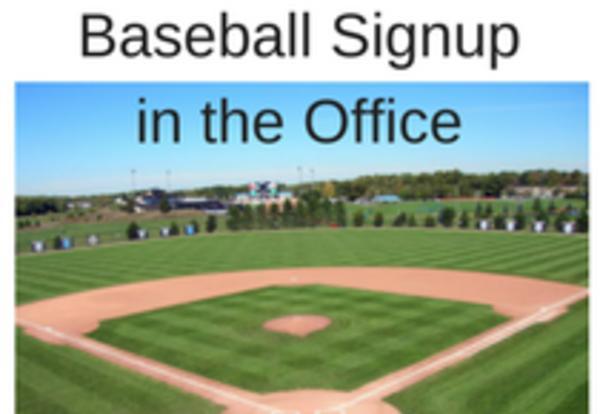 Boys Baseball Signup