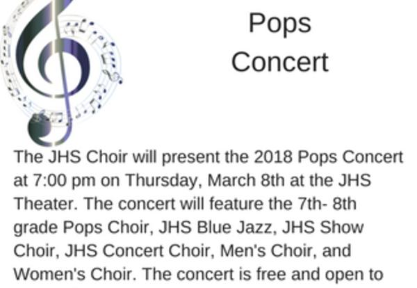 Pops Concert-RESCHEDULED to 3/8/18