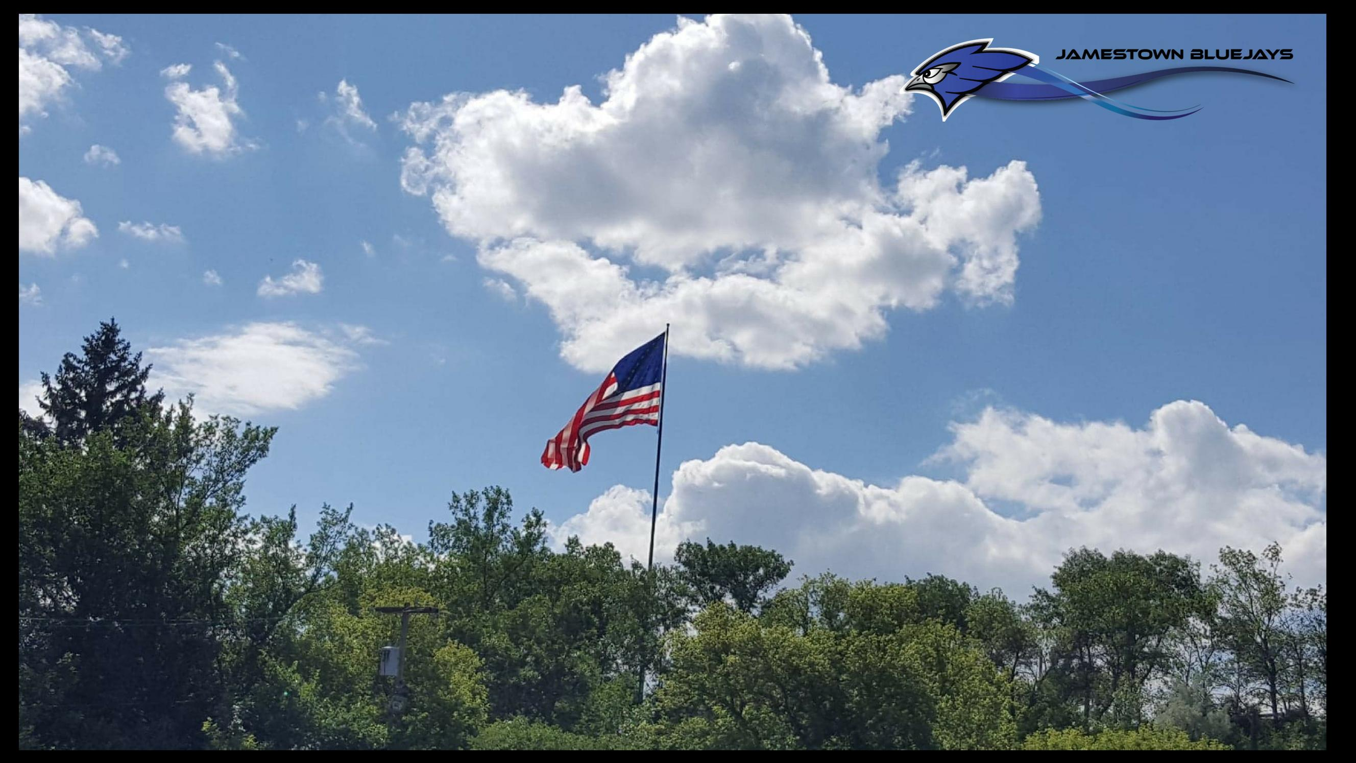 American Flag shown flying recently