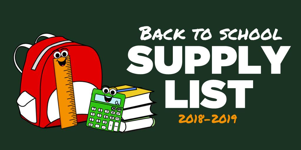 Back-to-School Supply List Banner