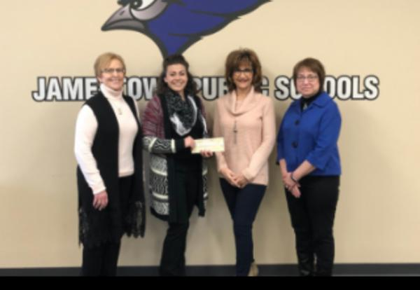 Donation from Lifetime Vision Source-Sally Ost, Shelley Mack, and two women from Lifetime.