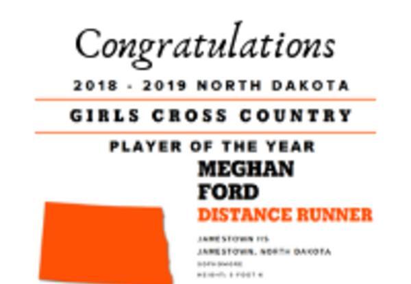 Congratulations Meghan Ford Distance Runner