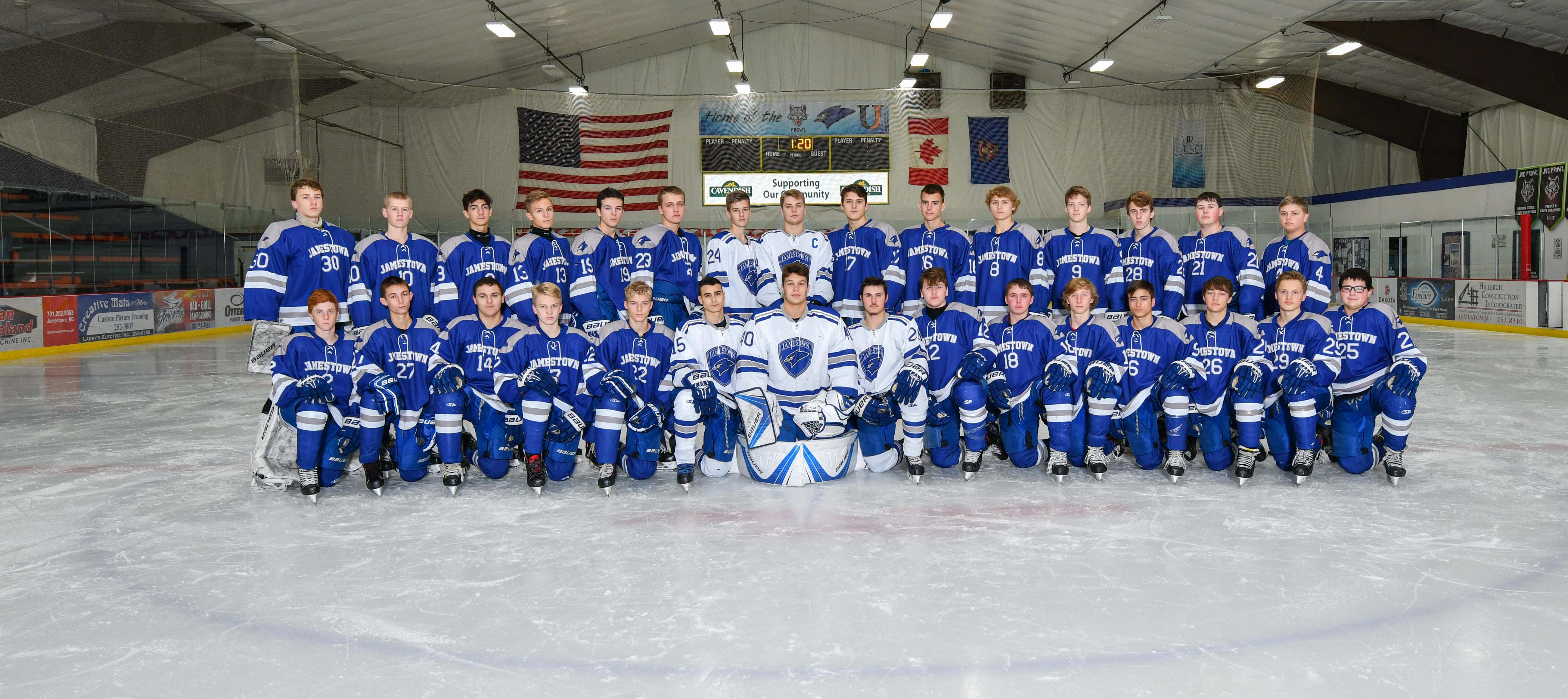 2019-2020 Boys Hockey Team Picture