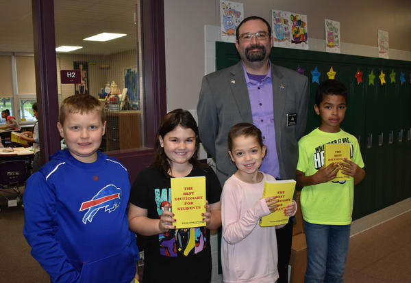 Elk's Club Donates Dictionaries
