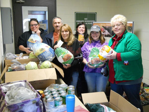 Bus Drivers Hold Food Drive