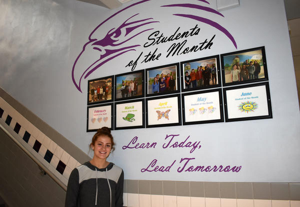 New Mural Spotlights Students of the Month