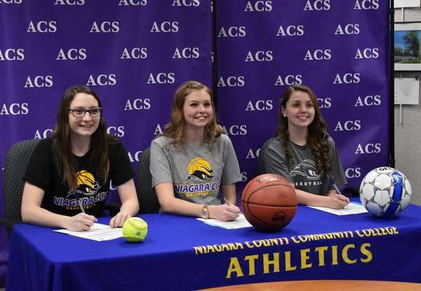 Trio Signs with NCCC