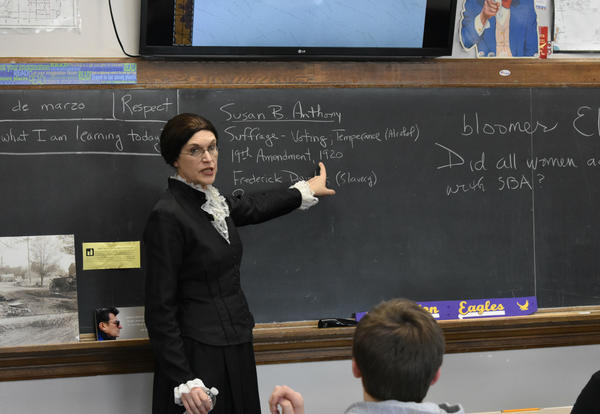 Susan B. Anthony Visits Albion