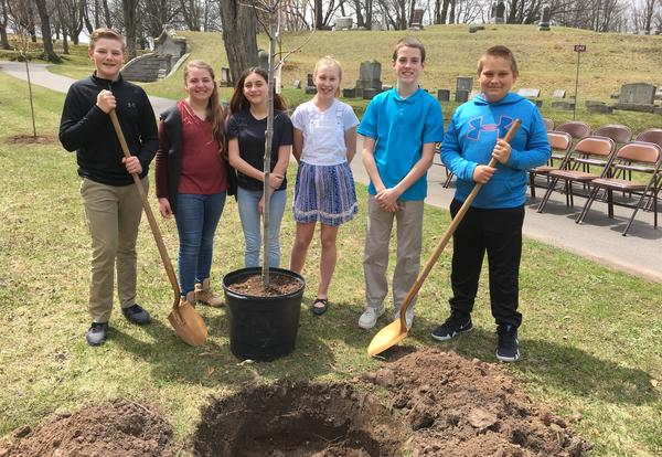 Planting Trees on Arbor Day
