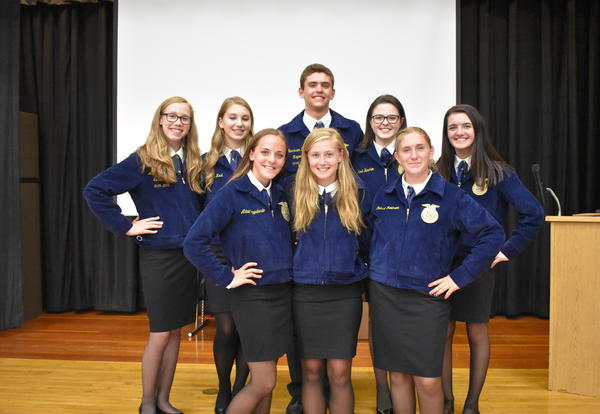 2018-2019 FFA Officers Announced at Banquet