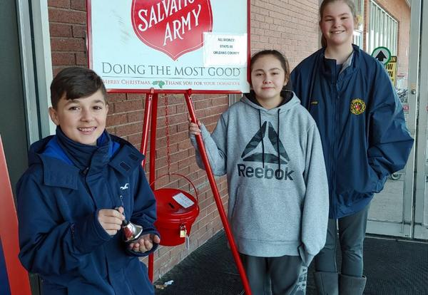 NJHS Rings Bells for Red Kettle Drive