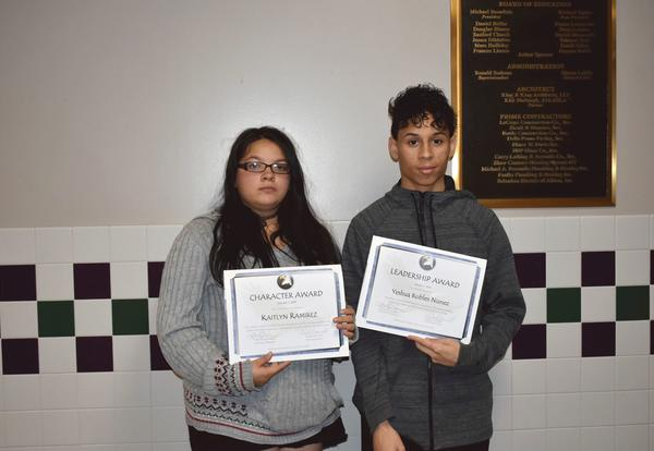Students Recognized at Board of Education Meeting
