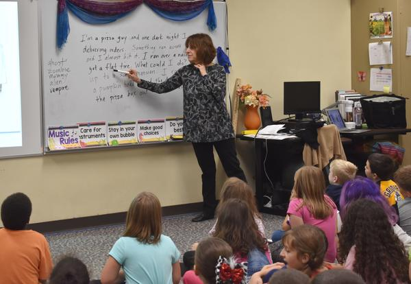 Author Visits Elementary School