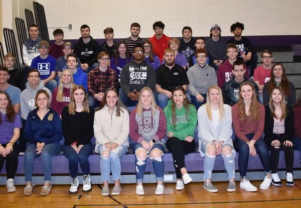 Winter Scholar Athletes Group Photo