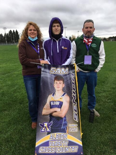 Sam Williams and his family at Cross Country Senior Night