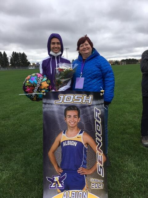 Josh Depoty and his family at Cross Country Senior Night