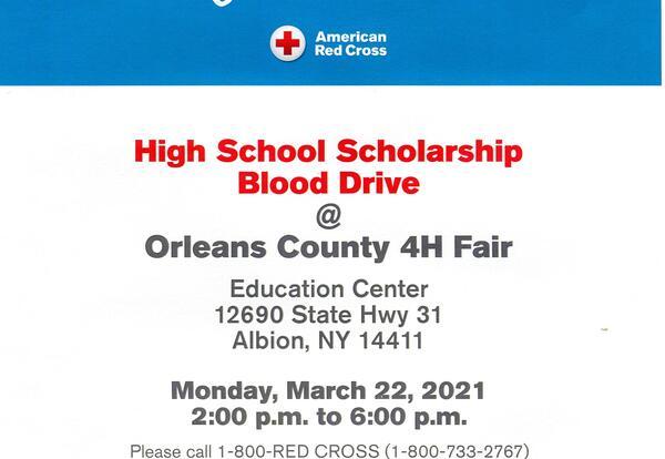 High School Scholarship Blood Drive