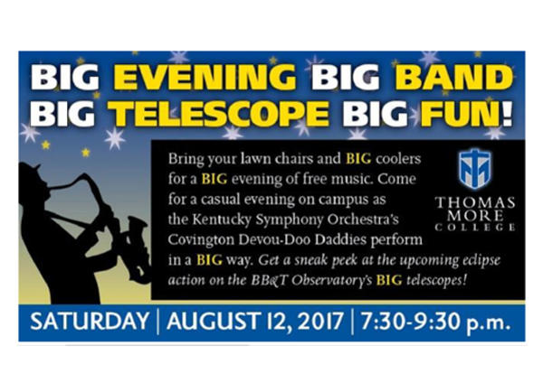 It's BIG! Big band music and big telescopes on display at free, kid-friendly concert at Thomas More College