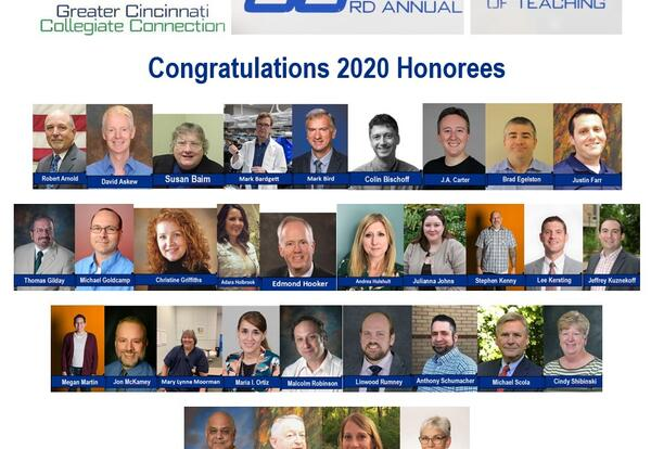 GC3 Honors 33 Faculty in 2020 Celebration of Teaching