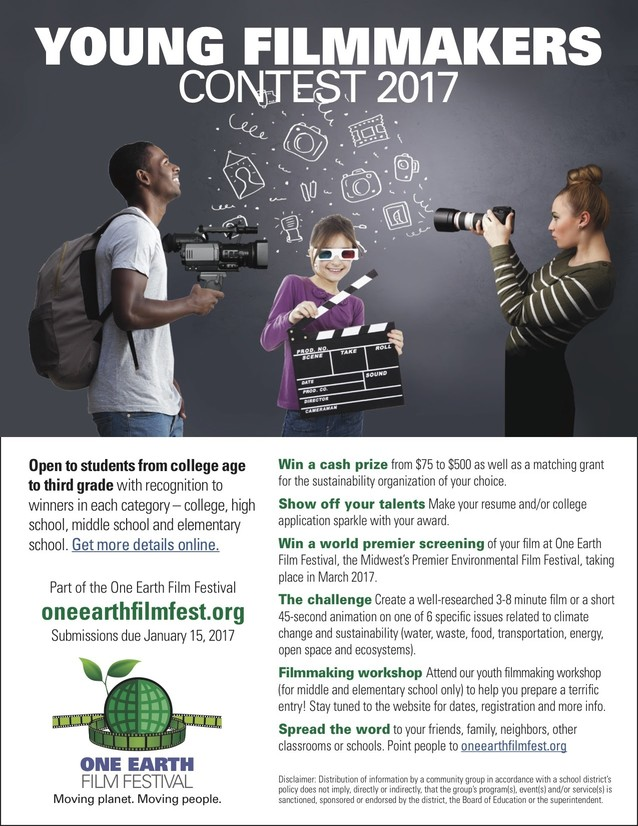 Young Film Makers Contest 2017 Flyer