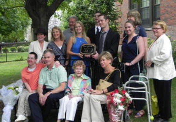 Friendship Bench Dedication for Janet Cunningham