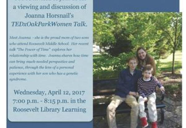 Author and D90 Mom to Speak at Roosevelt