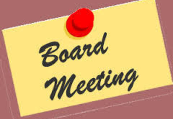 June 16 Board Meeting Time Change: 7:00 p.m.