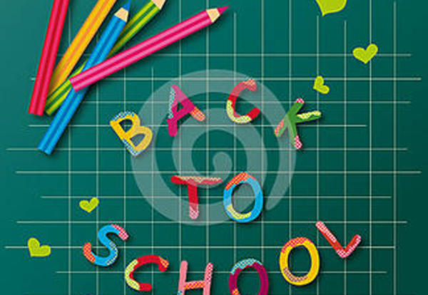 School Starts Thursday, August 25 -- Welcome Back!