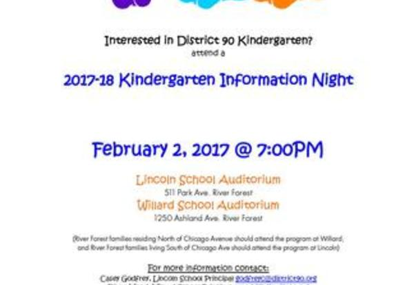 Kindergarten Information and Registration Night