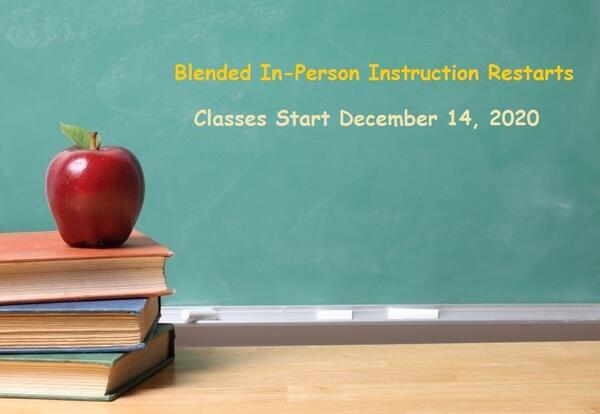 District 90 Restarts Blended In-Person Instruction