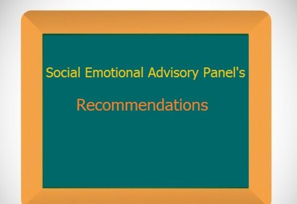 Social Emotional Advisory Panel's Recommendations