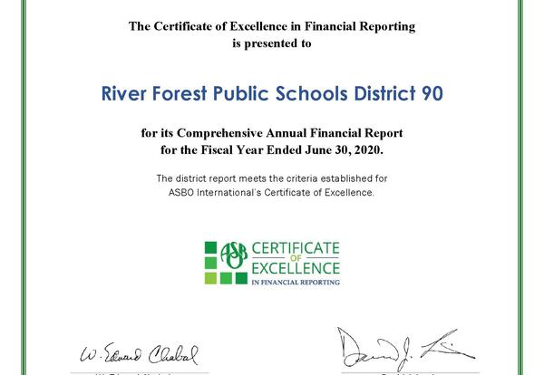 D90 Awarded Certificate of Excellence in Financial Reporting for 28th Year