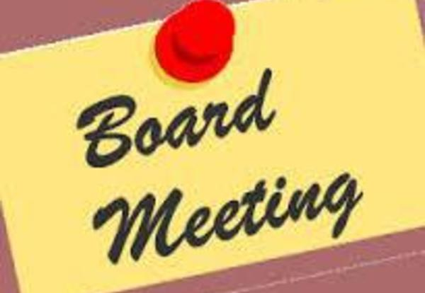 Notification of Board Meetings week of March 21, 2016