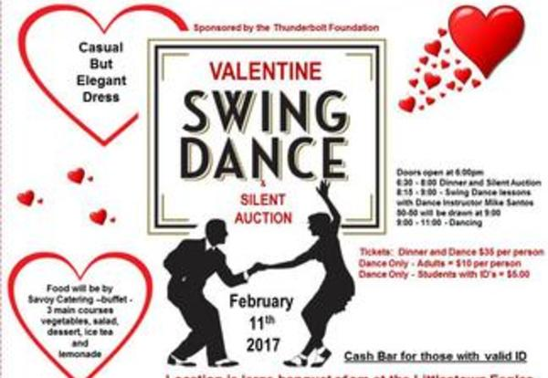 The Thunderbolt Foundation is sponsoring a Valentine Swing Dance on February 11, 2017